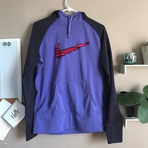 Adidas therma fit fleece lined stripe check hoodie